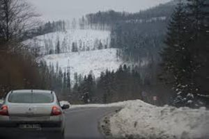 карпати сніг дорога
