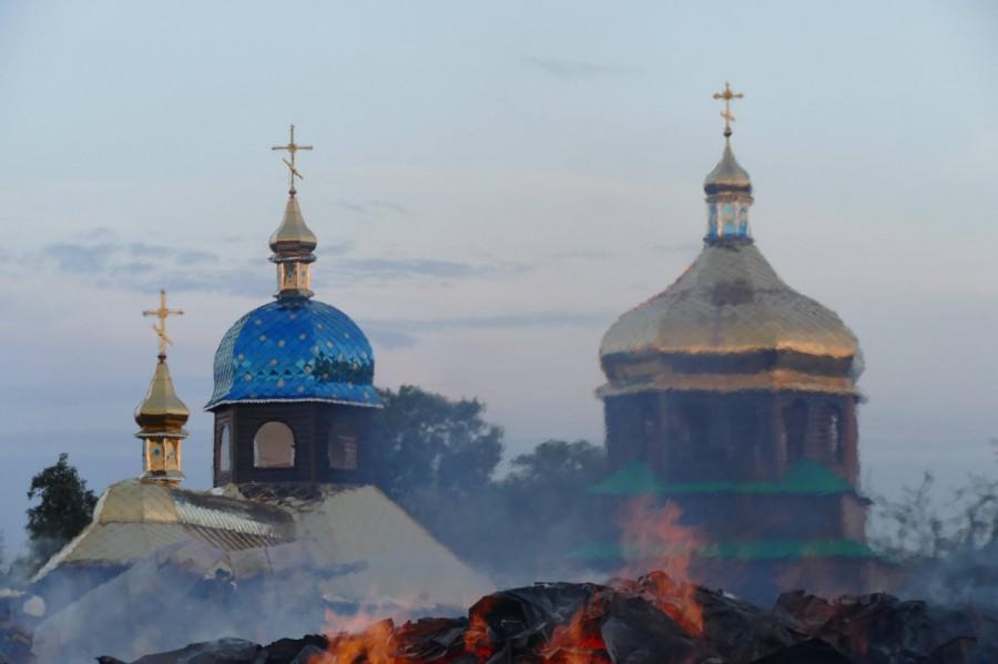 церква пожежа Прикарпаття