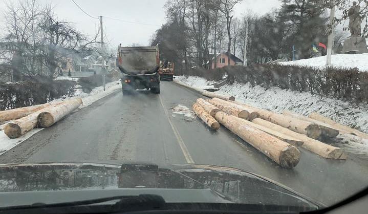 лісовоз, аварія