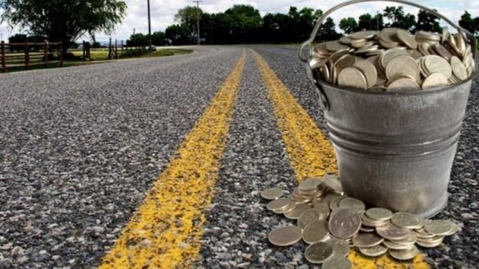 гроші, ремонт дороги