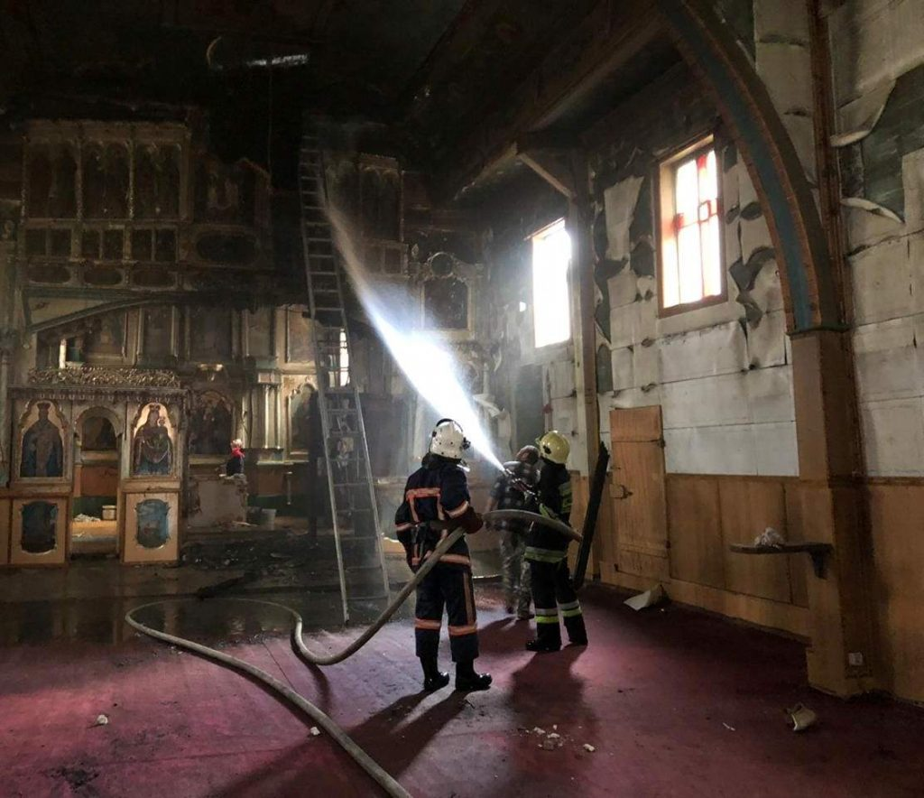 пожежа церкви