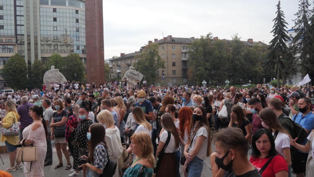 Івано-Франківськ, акція протесту