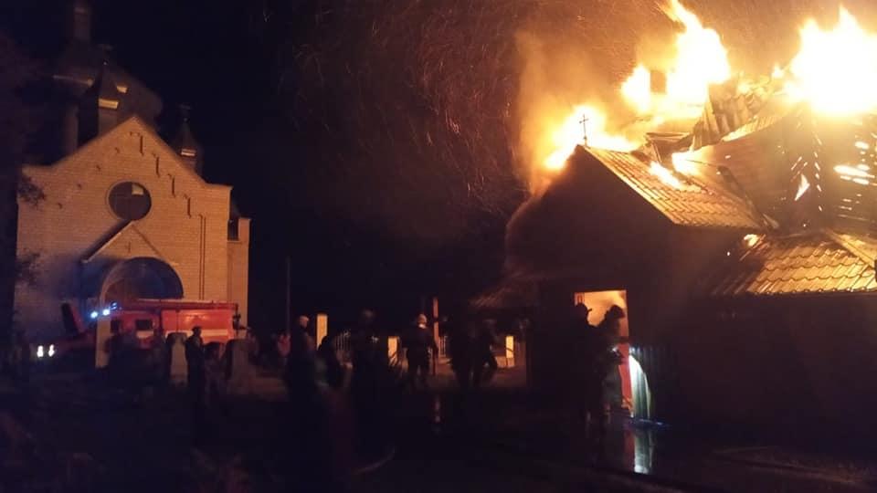 Новошин, згоріла церква