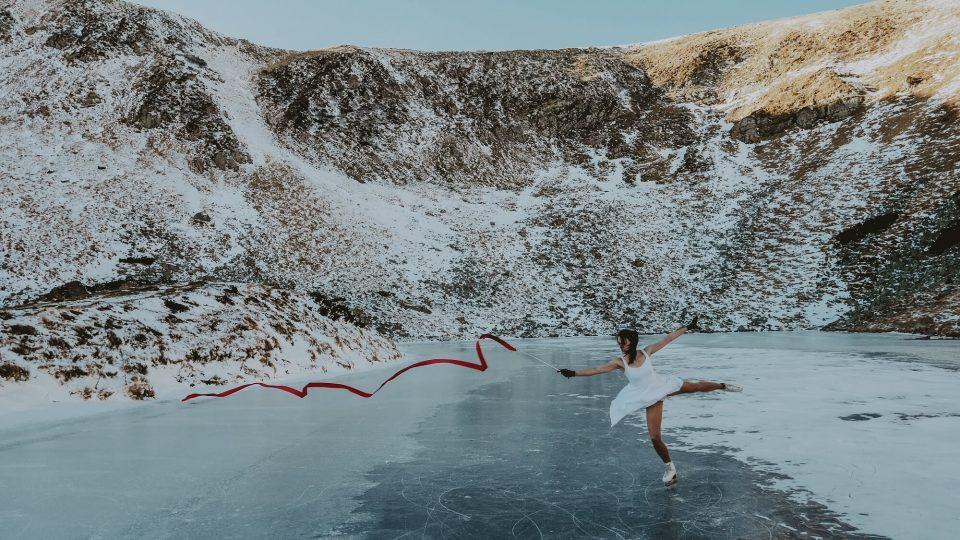 озеро Бребенескул - на ковзанах