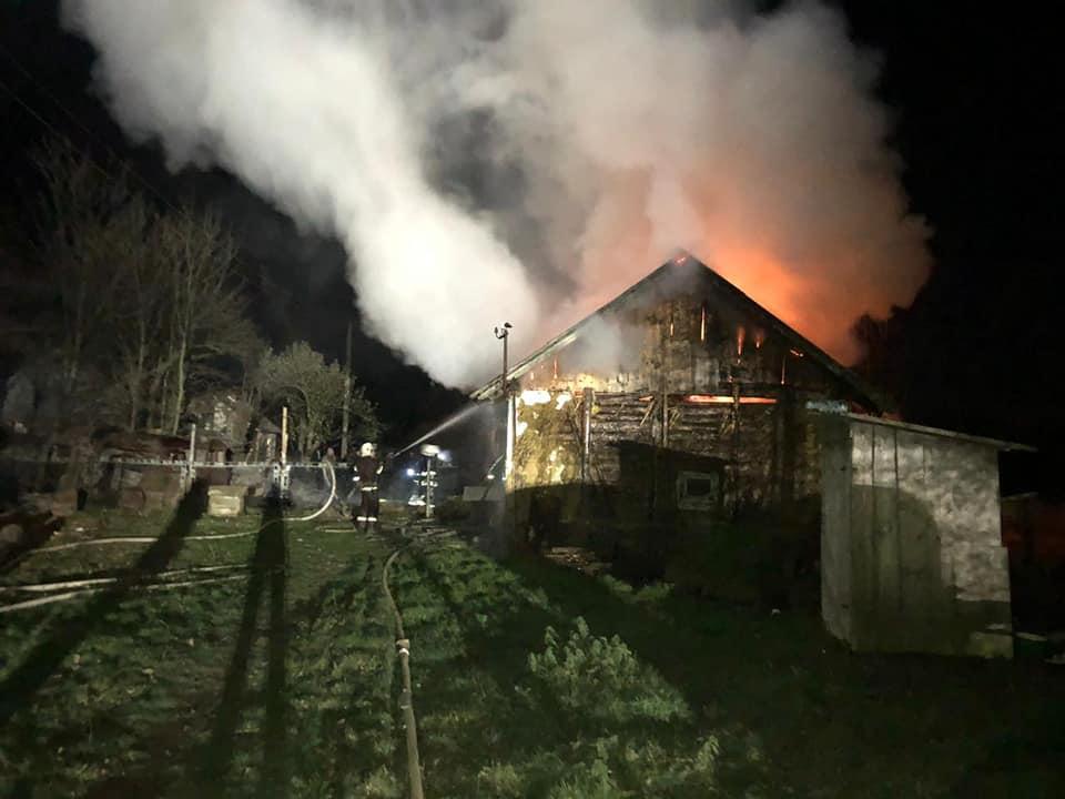 пожежа у селі Пнів