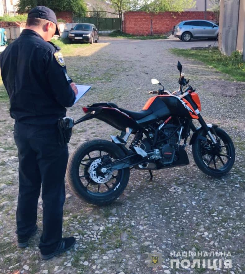 Солотвино, крадіжка мотоцикла