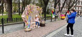 У Франківську облаштували кілька великодніх локацій для селфі (ФОТО