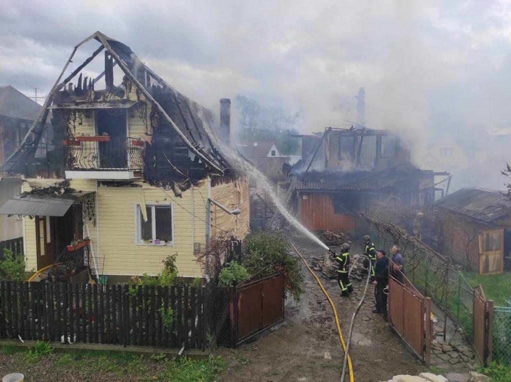 згорів будинок у Делятині