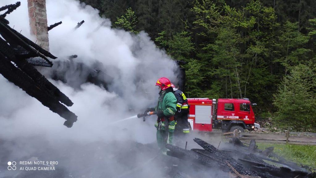 пожежа у селі Бистрець