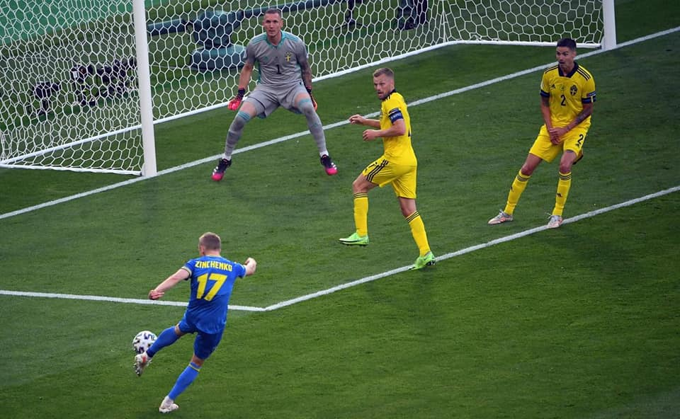 Україна - Швеція, Євро-2020, гол Зінченка