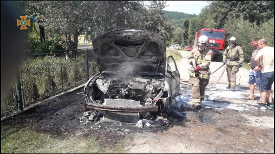 пожежа авто, новини Прикарпаття