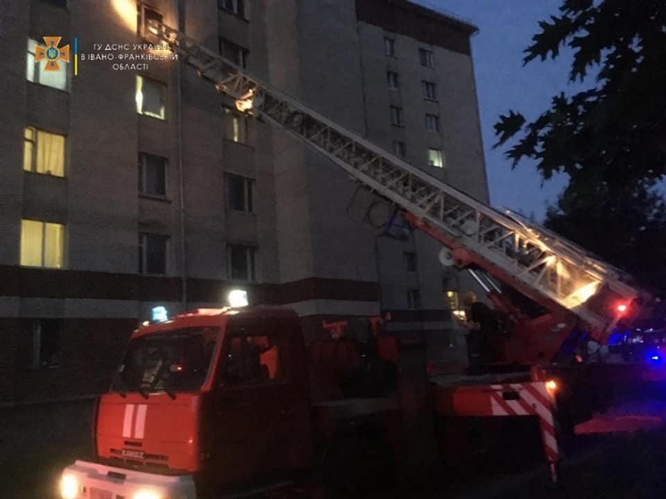 пожежа, Франківськ