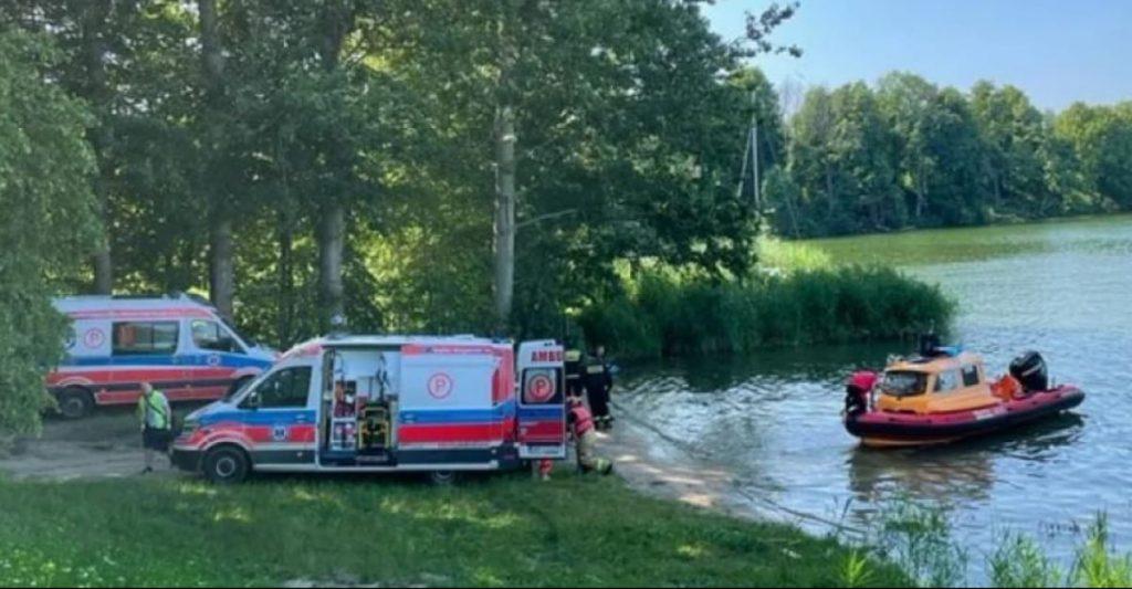 гелікоптер впав в озеро, Польща