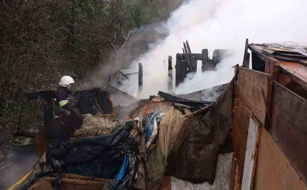 пожежа у Болехові, циганський табір